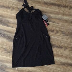 Athleta Black Halter Dress NWT